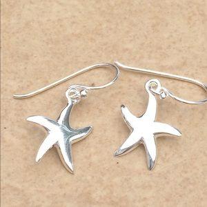 Jewelry - Sterling Silver 925 Starfish Beach Drop Earrings